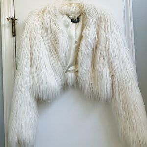 Bebe White Puffy Jacket Size S